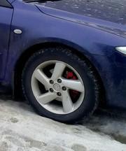 Титановые диски с резиной на Mazda 6
